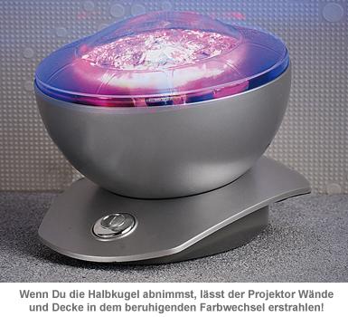 Laser Projektor - Kugellampe mit Polarlicht - 2