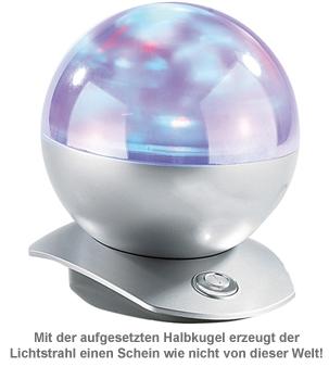 Laser Projektor - Kugellampe mit Polarlicht - 3