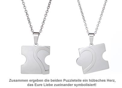 Liebesketten mit Namensgravur - Puzzle Teile - 2