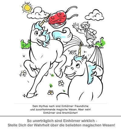 Malbuch - Einhörner sind Arschlöcher - 3
