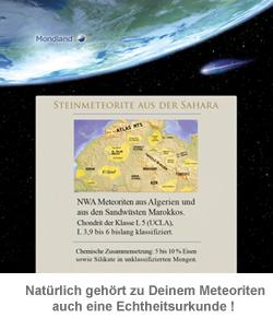 Meteorit Anhänger - Echter Sternenschmuck - 2