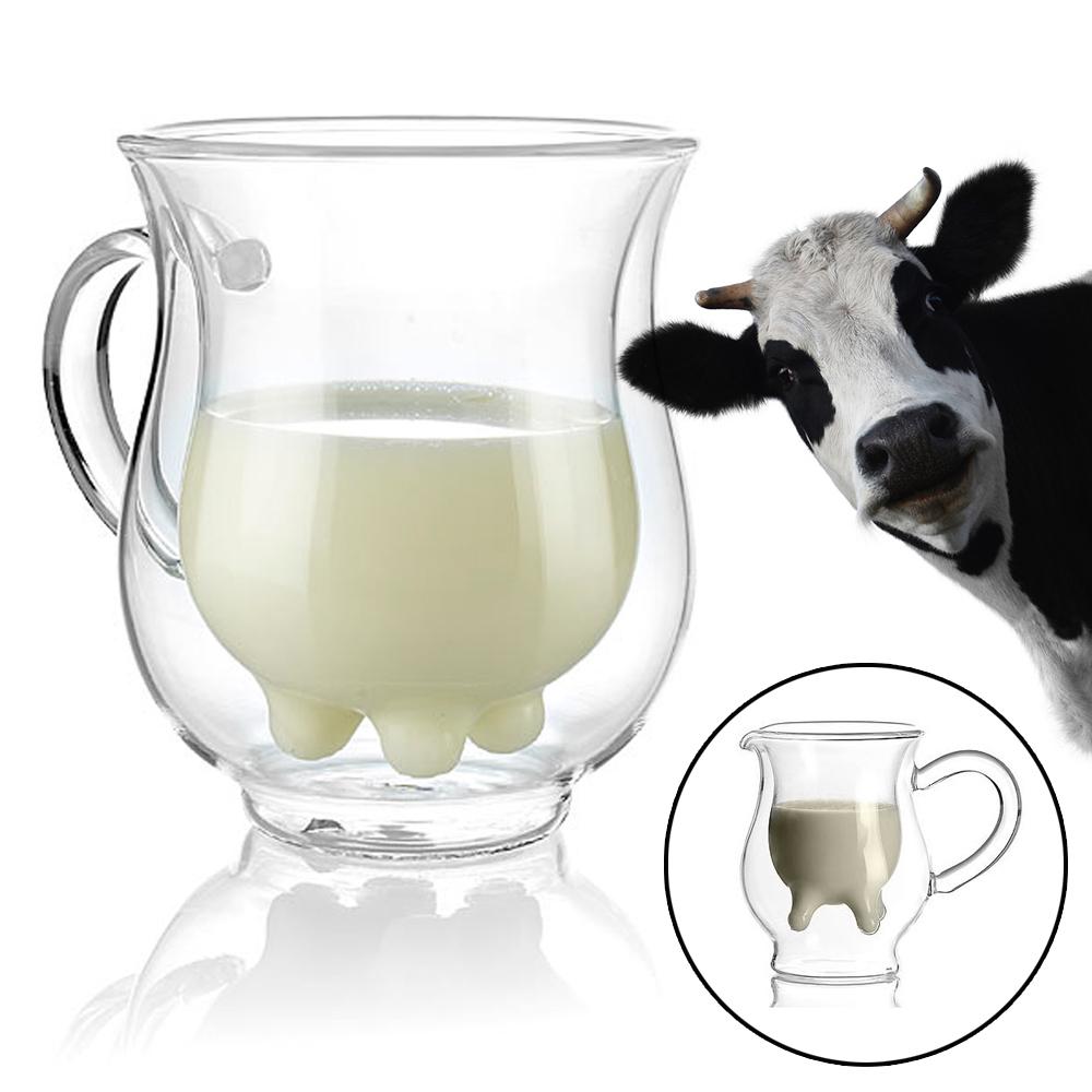 Milchk nnchen aus glas coole kanne in kuheuter optik for Kuchenwande aus glas