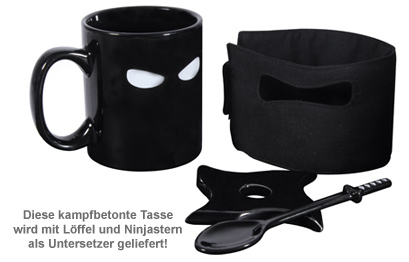 Ninja Tasse mit Löffel und Untersetzer - 2