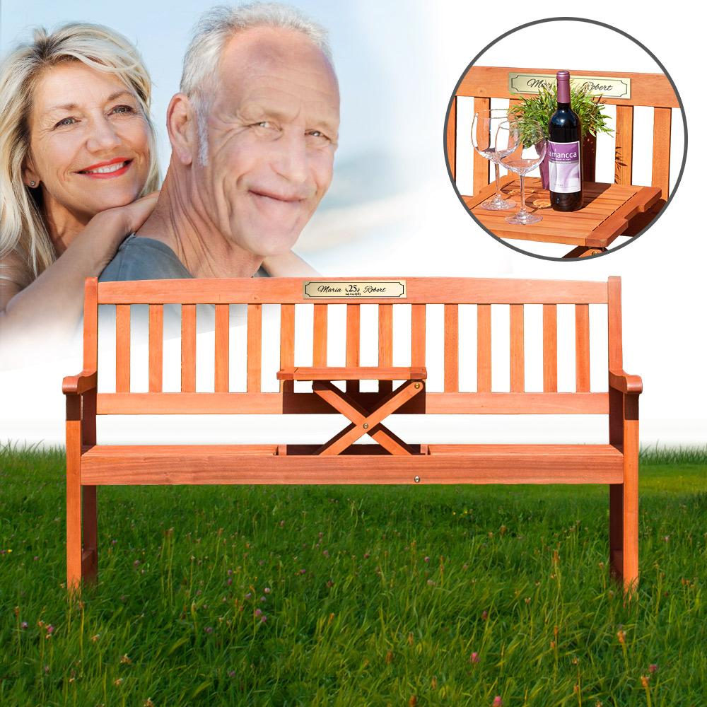 personalisierte hochzeitsbank zur silberhochzeit mit. Black Bedroom Furniture Sets. Home Design Ideas