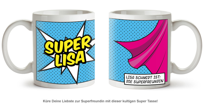 Personalisierte Supercape Tasse - Frau - 2
