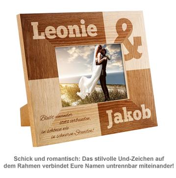 Personalisierter Bilderrahmen für Paare - Kaufmännisches Und - 2