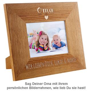 Personalisierter Bilderrahmen - Oma mit Herz - 2