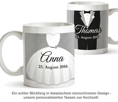 Personalisiertes Tassen Paar zur Hochzeit - Klassisch - 2