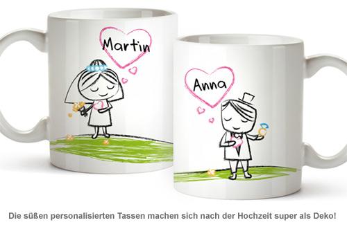 Personalisiertes Tassen Set - Brautpaar - 2