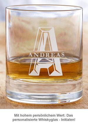 Personalisiertes Whiskyglas - Initialen - 2
