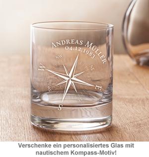 Personalisiertes Whiskyglas - Kompass - 3