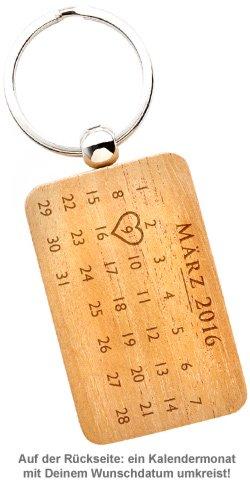 Schlüsselanhänger Kalender mit Gravur - Hochzeit - 3