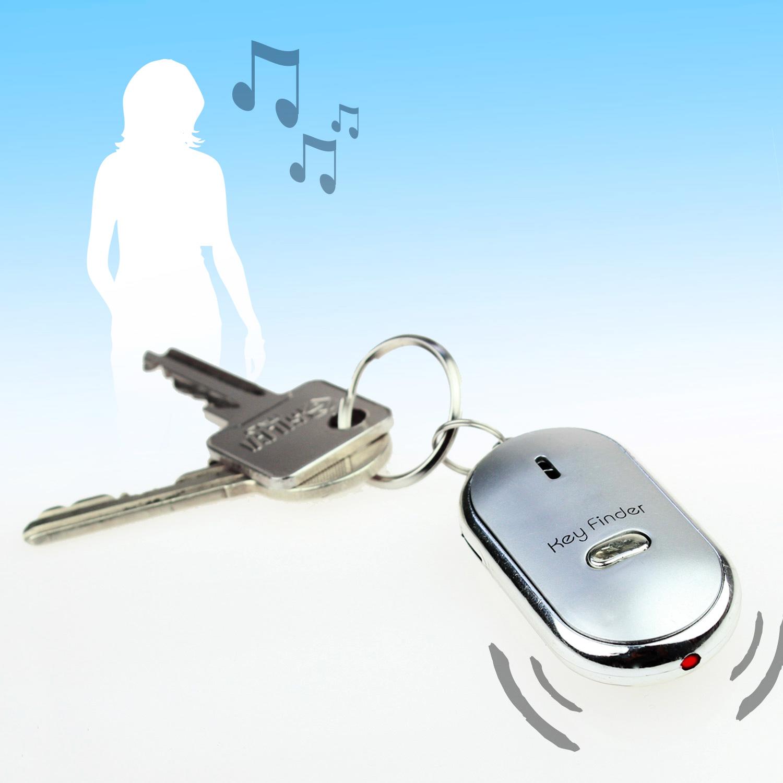 LED Schlüsselfinder Taschenlampe Gadget Schlüssel Key Finder Pfeifen Schön