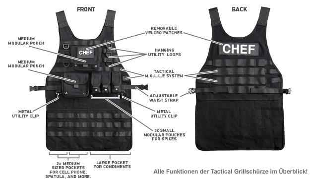 Tactical Grillschürze für Männer - 3