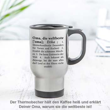 Thermobecher personalisiert - Definition Weltbeste Oma - 2