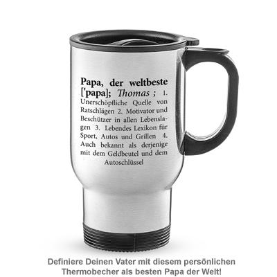 Thermobecher personalisiert - Definition Weltbester Papa - 2