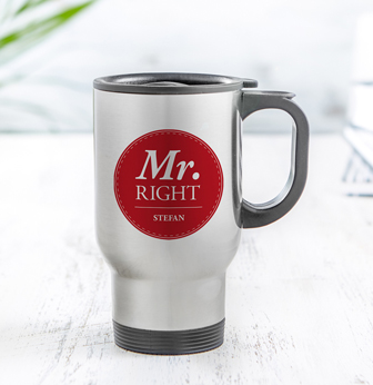 Thermobecher Set personalisiert - Mr and Mrs Right - 3
