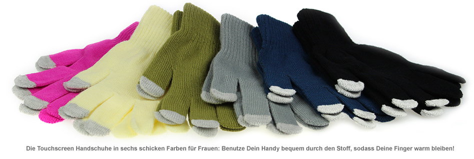 touchscreen handschuhe f r frauen handy durch stoff bedienen. Black Bedroom Furniture Sets. Home Design Ideas