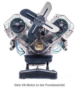 V8-Motor Bausatz - 250 Teile - 3