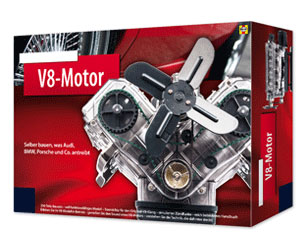 V8-Motor Bausatz - 250 Teile - 5