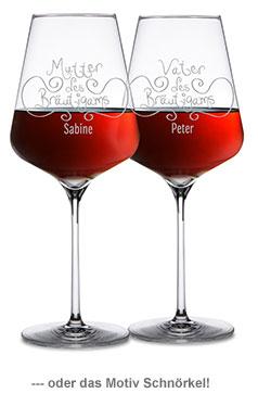 Weingläser für Bräutigameltern - 3