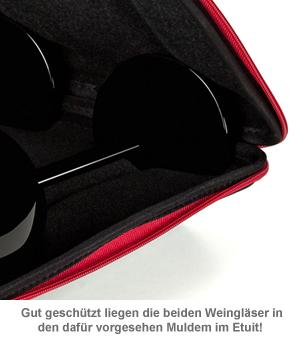 Weingläser schwarz - im Etui - 2