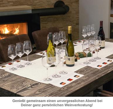 Weinprobe zu Hause - Set mit Wein und Schokolade - 3