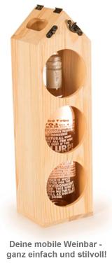 Weinständer aus Holz zum Tragen - 4