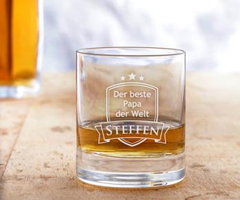 Whisky Set Bester Papa - Whisky Steine und Glas - 5