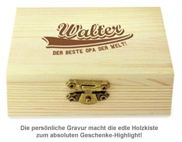 Whisky Steine in Holzkiste mit Gravur - College Bester Opa - 2