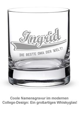 Whiskyglas College Motiv - Beste Oma - 3