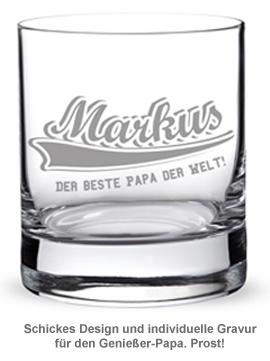 Whiskyglas College Motiv - Bester Papa - 2