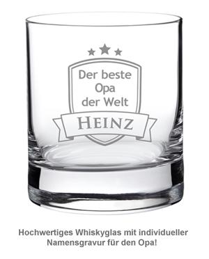 Whiskyglas mit Gravur - Bester Opa - 2