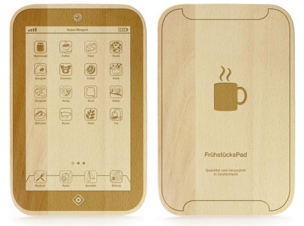 FrühstücksPad - graviertes Brettchen - 2