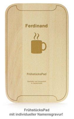 FrühstücksPad - graviertes Brettchen - 3