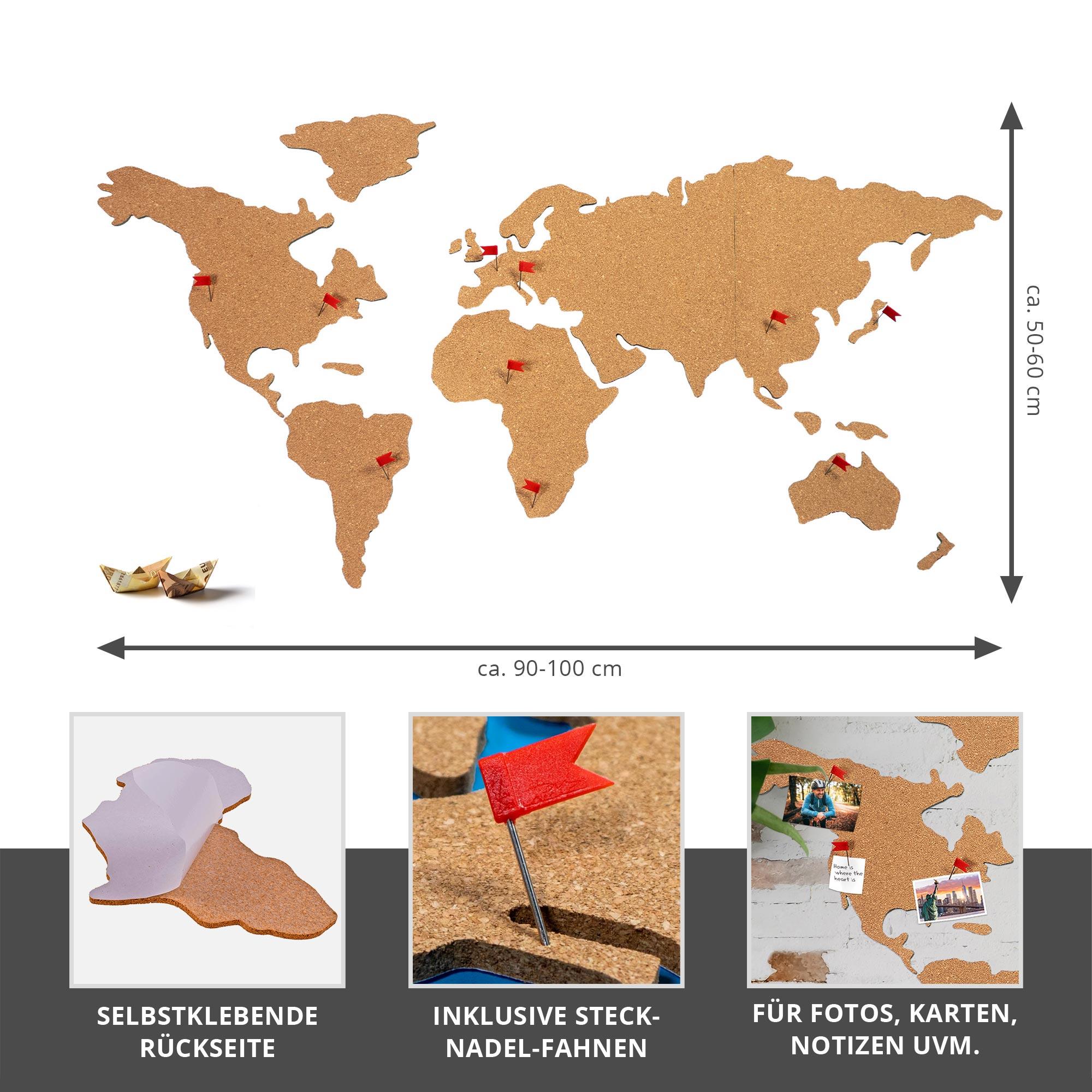 Weltkarte aus Kork - 2