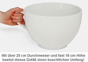 weltgr te kaffeetasse xxl becher mit 20fachem fassungsverm gen. Black Bedroom Furniture Sets. Home Design Ideas