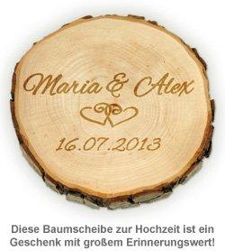 Baumscheibe zur Hochzeit - personalisiert - 3
