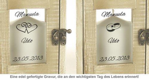 Romantische Hochzeitslaterne - personalisiert - 3