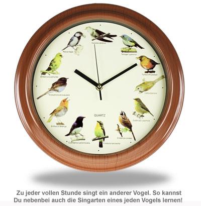 Wanduhr - Vogelstimmen - 2
