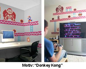 Donkey Kong Wandtattoo - 2