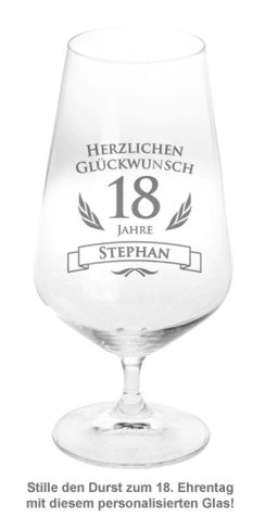 Bierglas zum 18. Geburtstag - 2