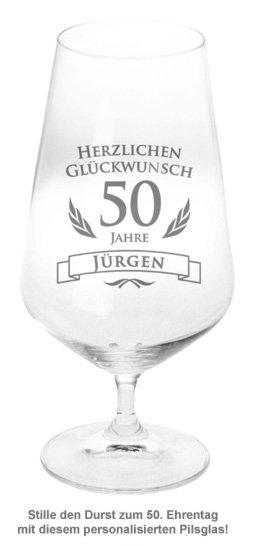 Bierglas zum 50. Geburtstag - 2
