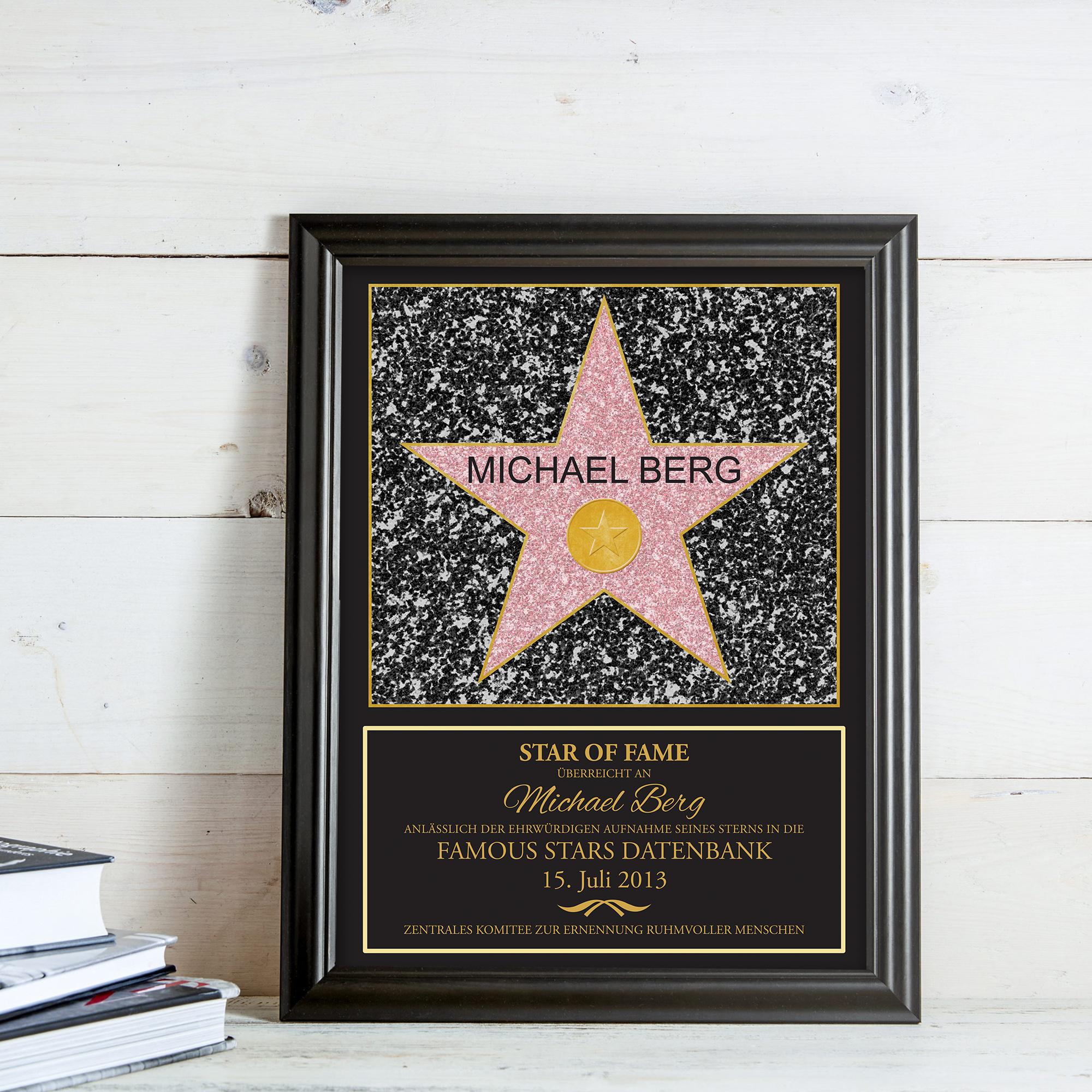 Star of Fame - personalisiertes Bild - 2
