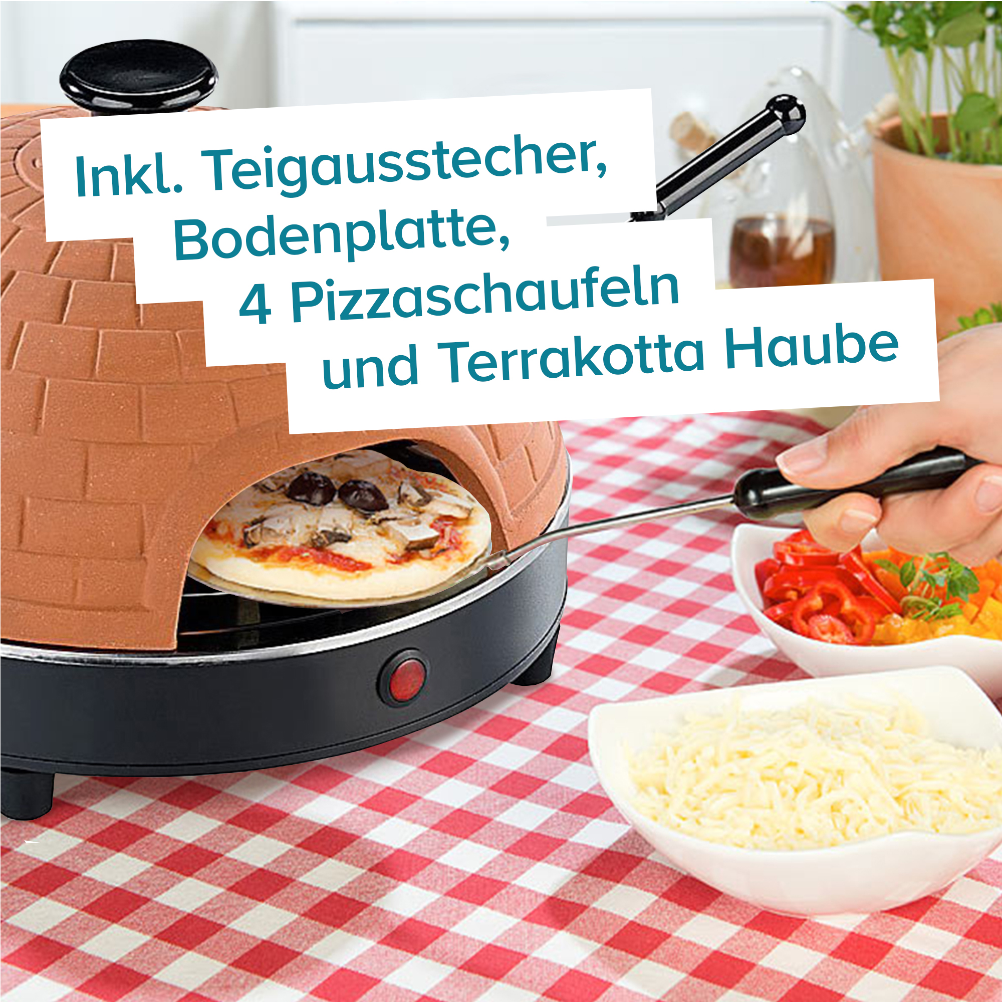 Mini Pizza Stein-Ofen - 3
