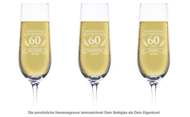 Sektglas zum 60. Geburtstag - 2