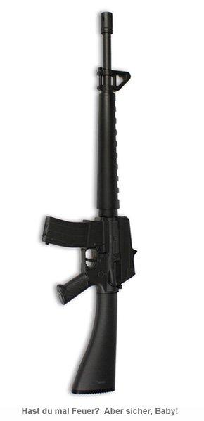 Elektro Stabfeuerzeug - Maschinengewehr - 2