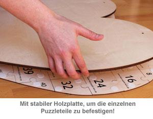 Holz Puzzle Herz zum Bemalen - 3