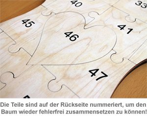 Holz Puzzle Baum zum Bemalen - 3