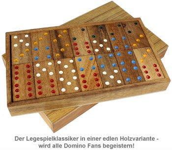 Domino in edler Holzbox - 2